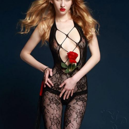 body red motivo floral